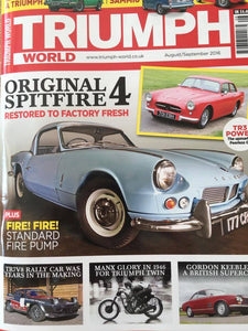 Triumph World Magazine features Hamilton Classic & Motorsport TR7V8 rally car