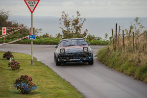 Hamilton Classic and Motorsport TR7V8 flat out on Jersey Rally.