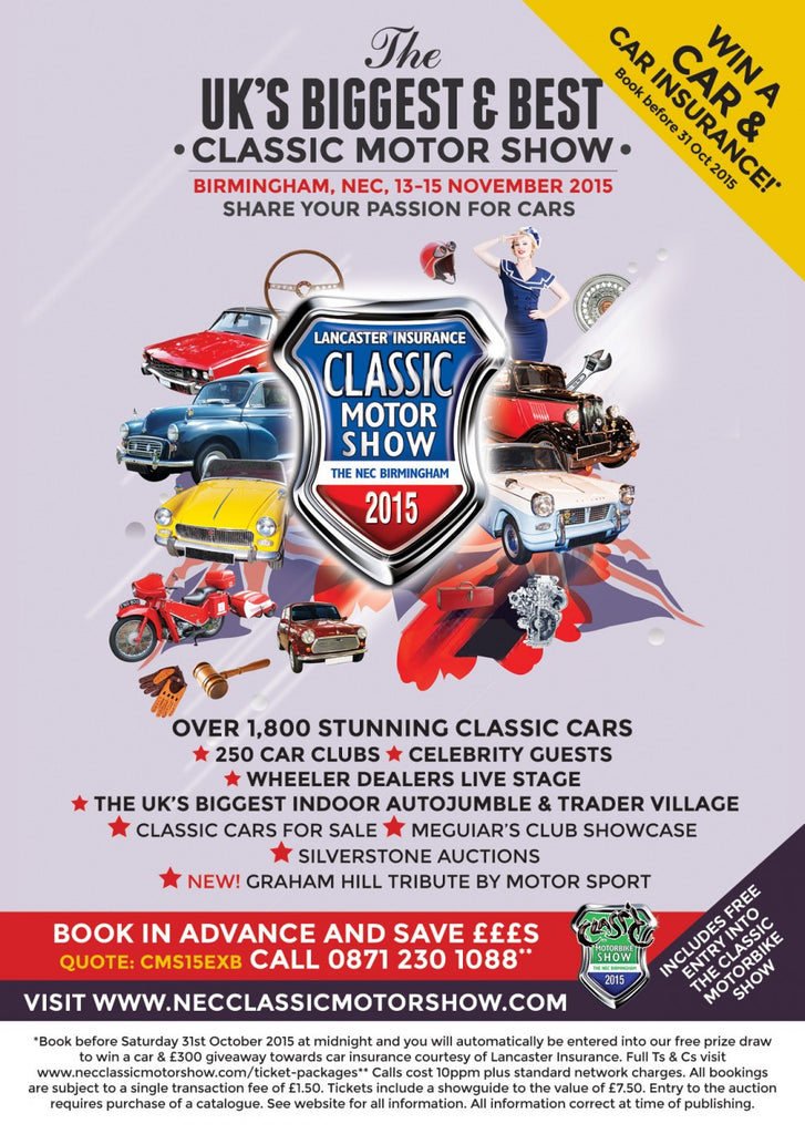 Theme announced for NEC Classic Motor Show 2015