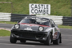 Rally car testing at Castle Combe