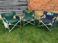 Alloy directors chairs with Optional Printed logo (pair)