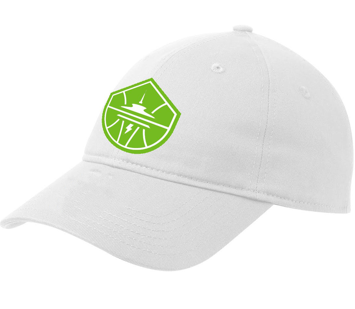 Neon Icon White Crew Cap