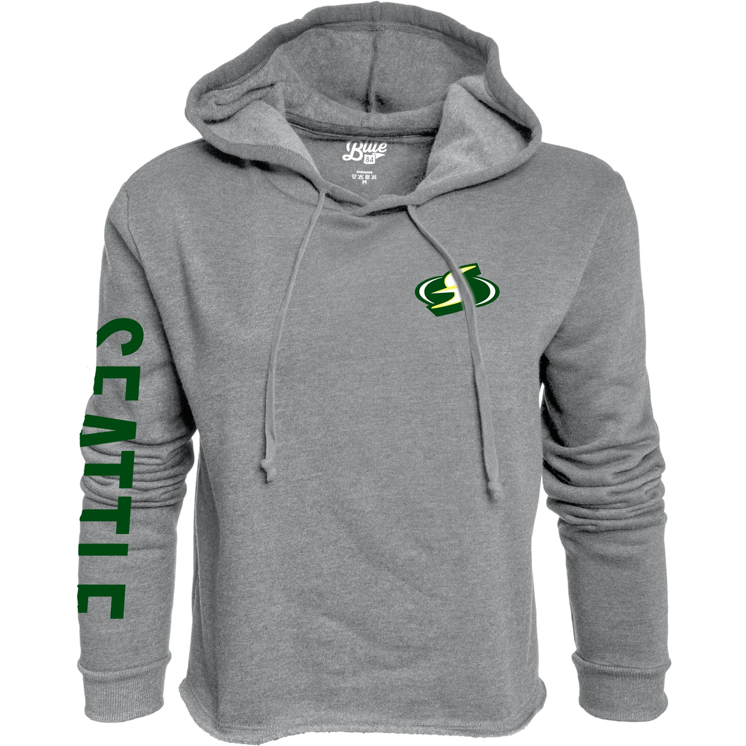 Light Seattle Crop Hoodie