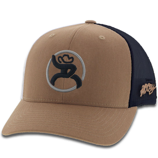 "Hooey ""Strap"" Roughy Tan & Black Trucker Cap OSFA"