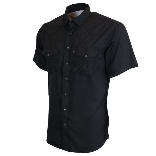 "Hooey ""Sol"" Black Short Sleeve Pearl Snap Western Shirt"