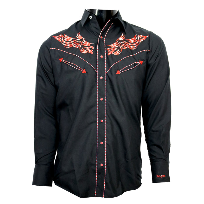 addbe7fe03 Mens western Shirt with embroidery- 117CA01 — El Coronel Clothing Co.