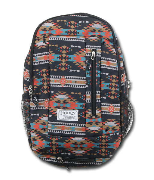 "Hooey ""Rockstar"" Black Aztec Print Backpack"