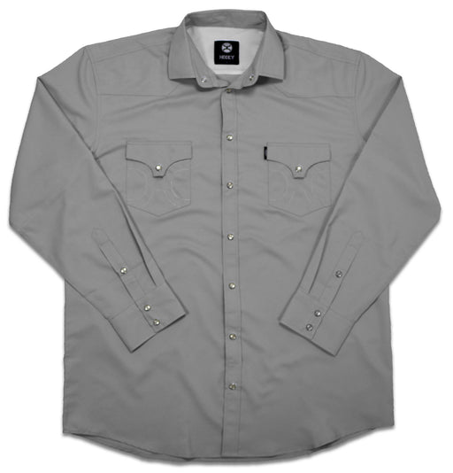 "Hooey Grey ""Sol"" Long Sleeve Pearl Snap Western Shirt"