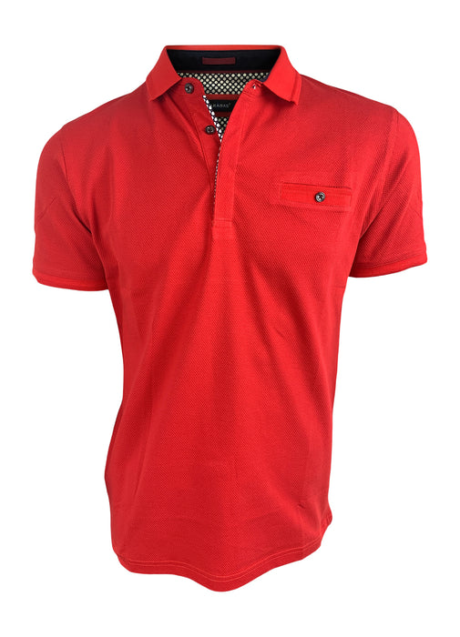 Barabas Men's Classic Red Polo
