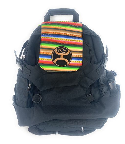 "Hooey ""Mule"" Black Serape Print Backpack"