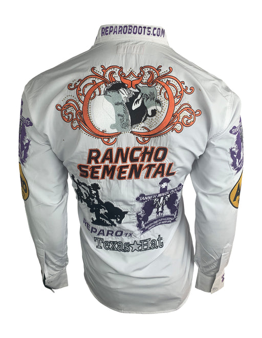 Rancho Semental Men's White long Sleeve Reparo Shirt
