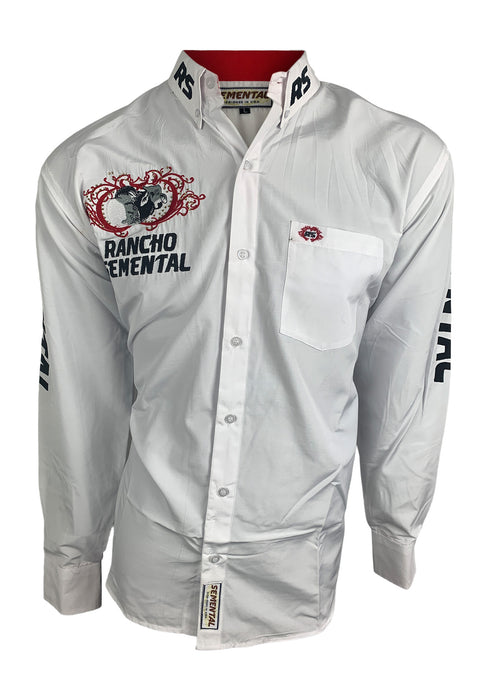 Semental Men's White long Sleeve Shirt