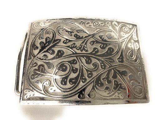 Charro Flowered Western Belt Buckle - (Hebilla Charra Floreada)