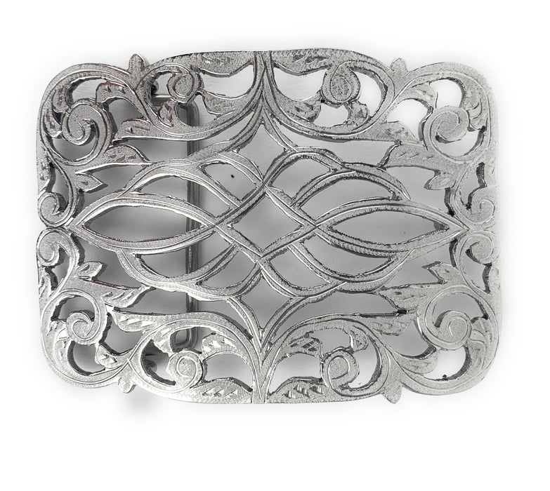 Charro Flowered Western Belt Buckle - (Hebilla Charra Floreada Rameada)