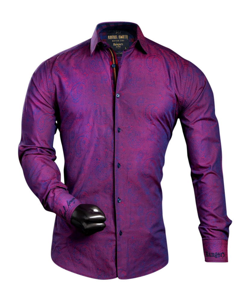 Rafael Amaya Luxury Collection Style Canavari Purple Shirt - 230CA01