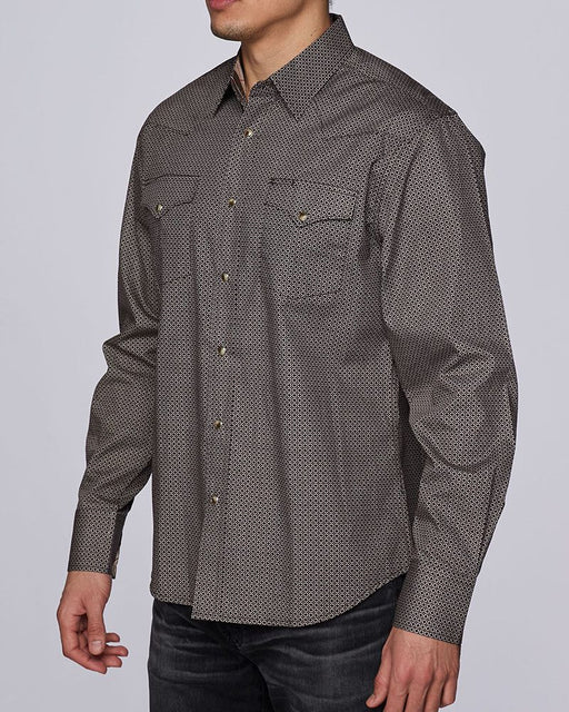 Rodeo Clothing Co. Men's Western Long Sleeve Shirt In Brown
