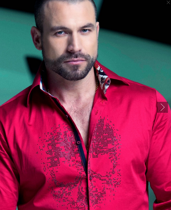 Rafael Amaya Luxury Collection Italian Skull Red Shirt - 210-CA01