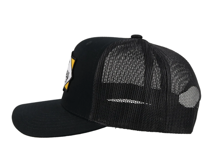 "Hooey ""DIAMOND"" Black Snapback Trucker Hat - 2022T-BK Western Original"