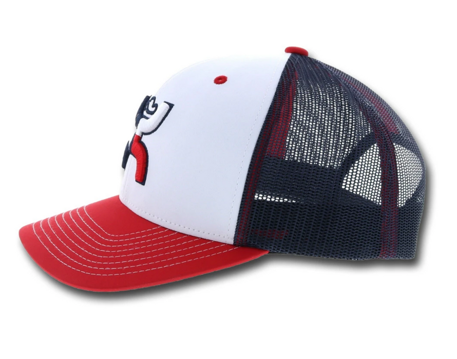 "Hooey ""Texican"" White/Blue Snapback Trucker Hat With Texas Flag - 1909T-WHBL"