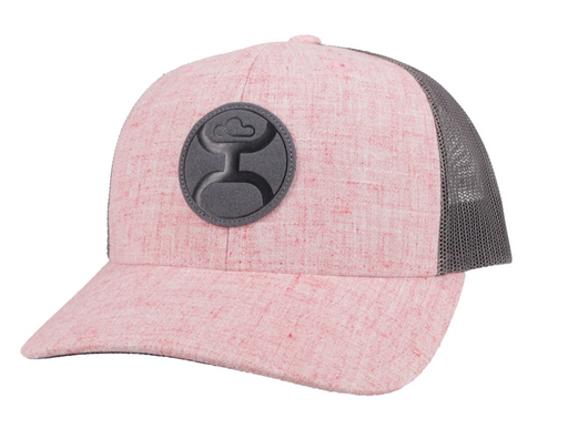 "Hooey ""Blush"" Pink/Grey Snapback Trucker Hat With Grey Logo - 2104T-PKGY"
