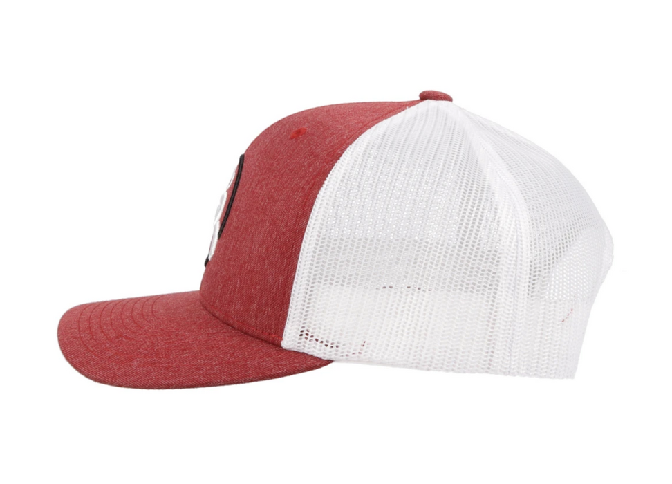"Hooey Youth ""Strap Roughy"" 6-Panel Trucker Hat Red/White  4029T-RDWH-Y"