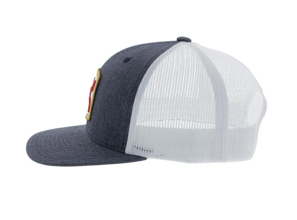 "Hooey Youth ""Zenith"" 6-Panel Trucker Hat Grey/White  2024T-GYWH-Y"