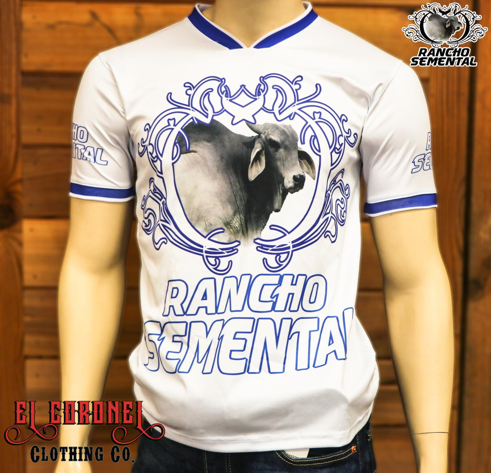 Camiseta Rancho Semental En Blanco