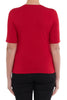 Rouge Elbow Sleeve Scoop Neck Top