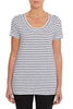 Ink Striped Scoop Neck Tee