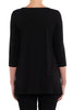 Black Italian Viscose Trapeze Top
