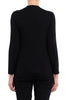 Black Long Sleeve Keyhole Neck Tee