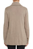 Oatmeal Marle Cotton Cashmere Roll Neck Knit