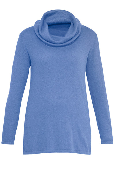 Bluebell Cotton Cashmere Roll Neck Knit