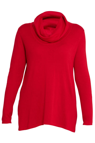Rouge Cotton Cashmere Roll Neck Knit