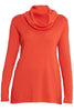 Winter Coral Cotton Cashmere Roll Neck Knit