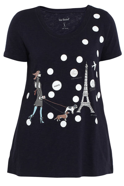Ink French Lady Scoop Neck Tee