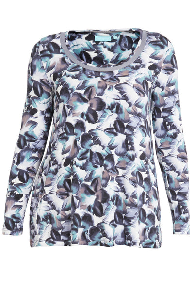 Bloom Print Mix Fabric Top