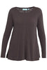 Charcoal Long Sleeve Cotton Slub Tee