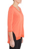 Orange Cotton Slub Drape Top