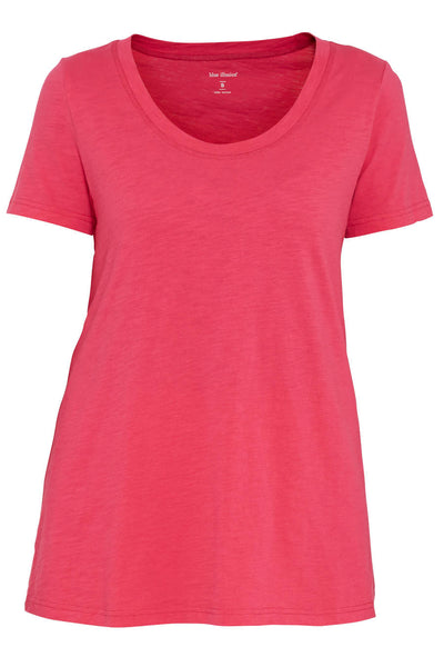Fuschia Cotton Slub Tee