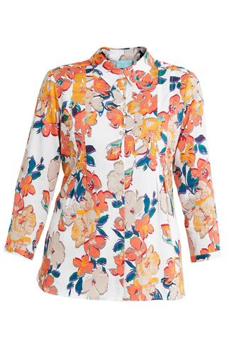 Watercolour Floral Print Shirt