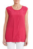 Lipstick Cotton Sleeveless Top
