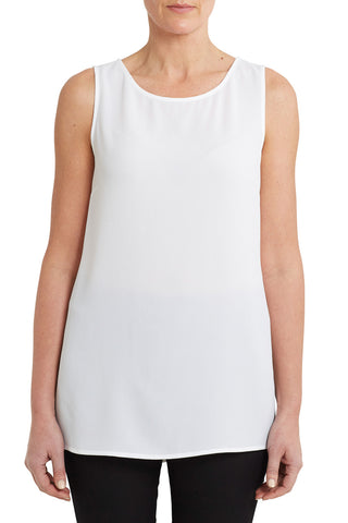 Sleeveless Split Hem Top