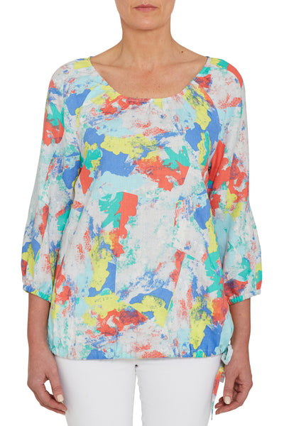 Gathered Print Top