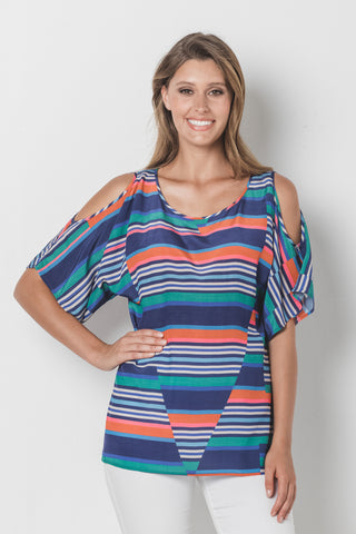 Trapeze Flutter Sleeve Top