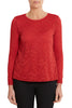 Winter Coral Day Lace Top