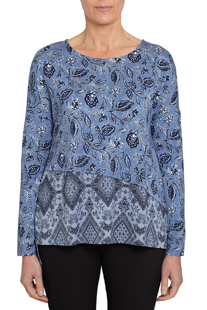 Spliced Printed Top