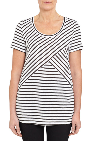 Panelled Stripe Tee