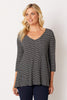 Black Textured A-Line Top