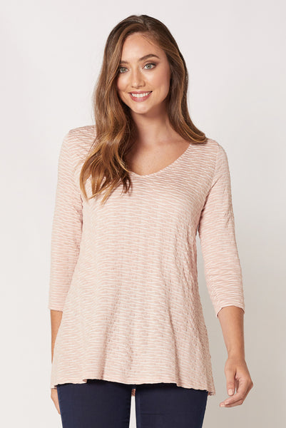 Blossom Textured A-Line Top